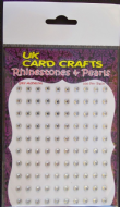 100 X Clear Rhinestones - Self Adhesive - UK Card Crafts